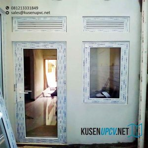 harga pintu upvc swing conch warna putih di Bogor id7762