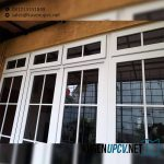 Jendela UPVC Warna Putih Model Jungkit ID5547